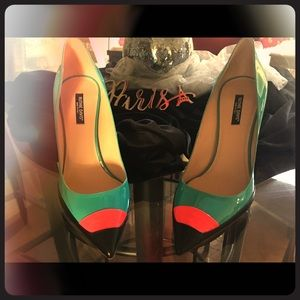 Ruthie Davis-Pointed Colorblock Heel ( Size 40)